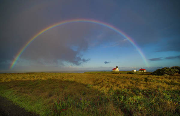 Rainbow At Point Cabrillo Poster