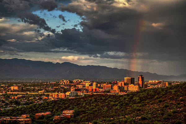 Poster featuring the photograph Rainbow Over Tucson by Chance Kafka