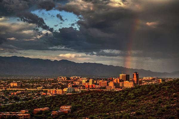 Rainbow Over Tucson Poster