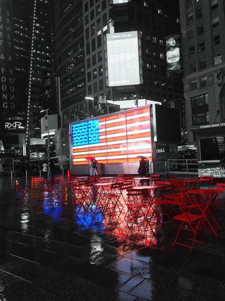 Rainy Days In Time Square  Poster