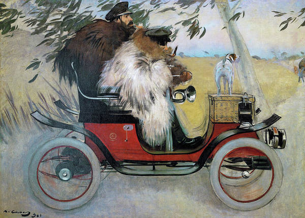 Ramon Casas And Pere Romeu In An Automobile - Digital Remastered Edition Poster