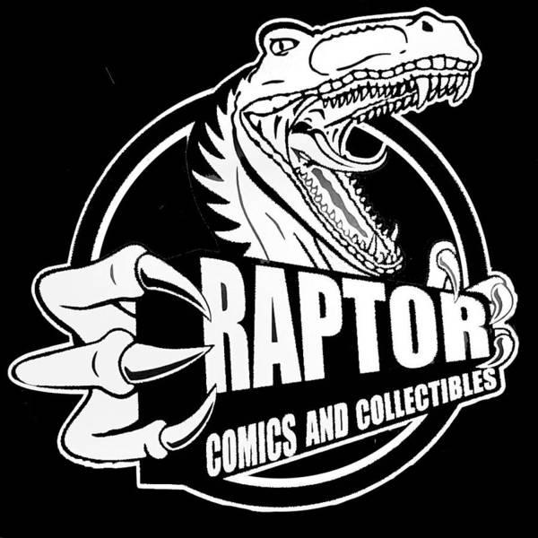 Raptor Comics Black Poster