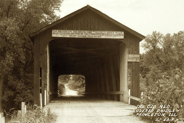Red Covered Bridge Early - 1900's Poster