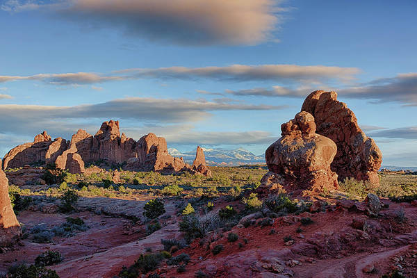 Poster featuring the photograph Red Rock Formations Arches National Park  by Nathan Bush