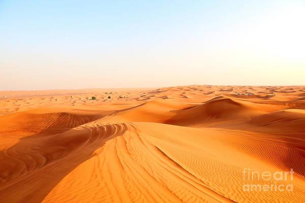 Red Sand Arabian Desert Near Dubai Poster