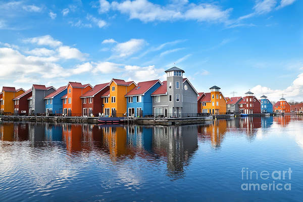 Reitdiephaven - Colorful Buildings On Poster