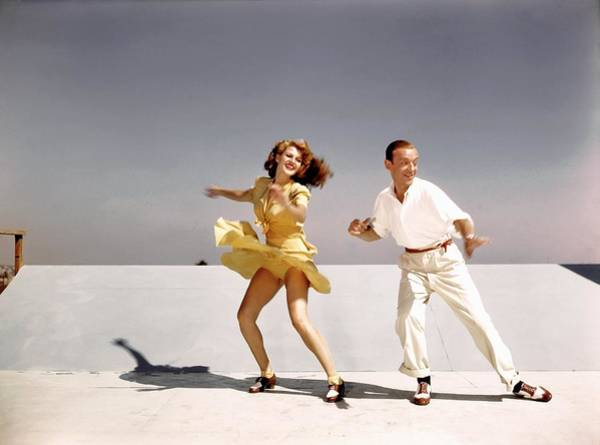Rita Hayworth And Fred Astaire Poster