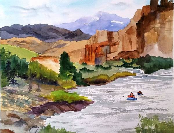 River Rafting In Montana Poster