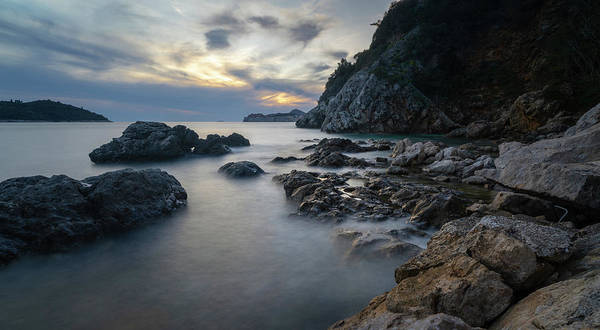 Rocky Coast Near Dubrovnik Poster
