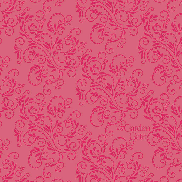 Rose Colored Fern Pattern Poster