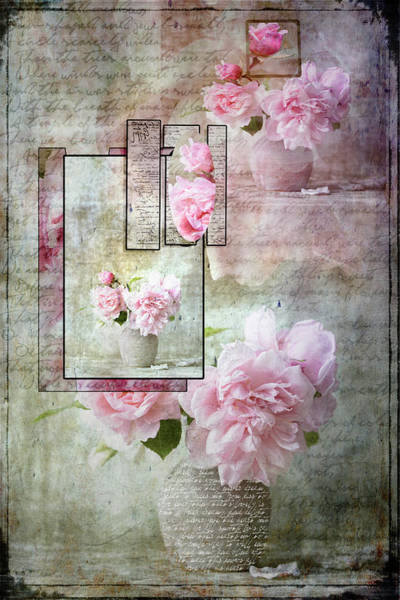 Poster featuring the digital art Roses On Roses by Jacqui Boonstra