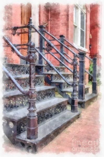 Rowhouse Stairs Washington Dc Neighborhood Poster
