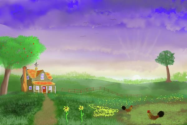 Poster featuring the digital art Rural Wonder by Chance Kafka