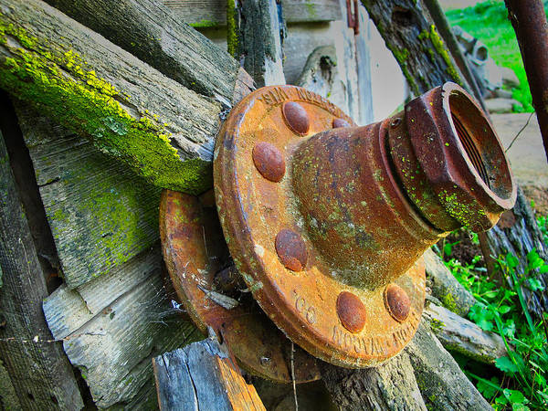 Poster featuring the photograph Rusted Hub by Tom Gresham