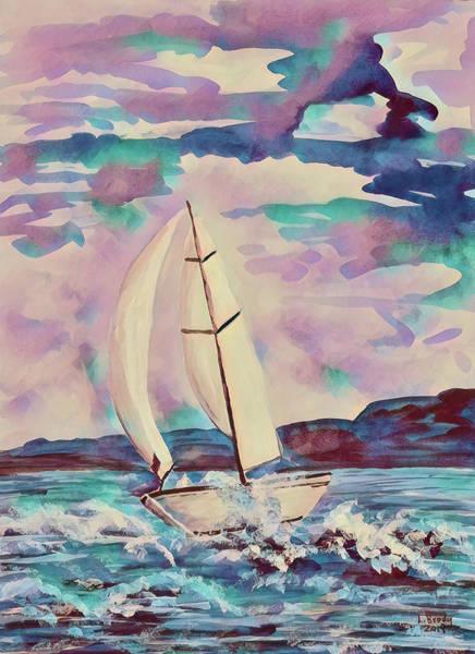 Sailboat Abstract 2 Poster