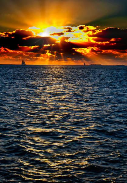 Sailboat Sunburst Poster