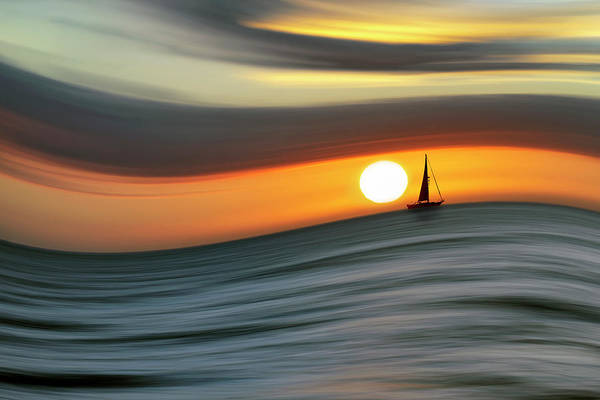 Sailing To The Sunset Poster