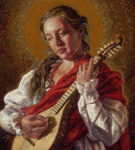 Saint Cecelia Mosaic Poster