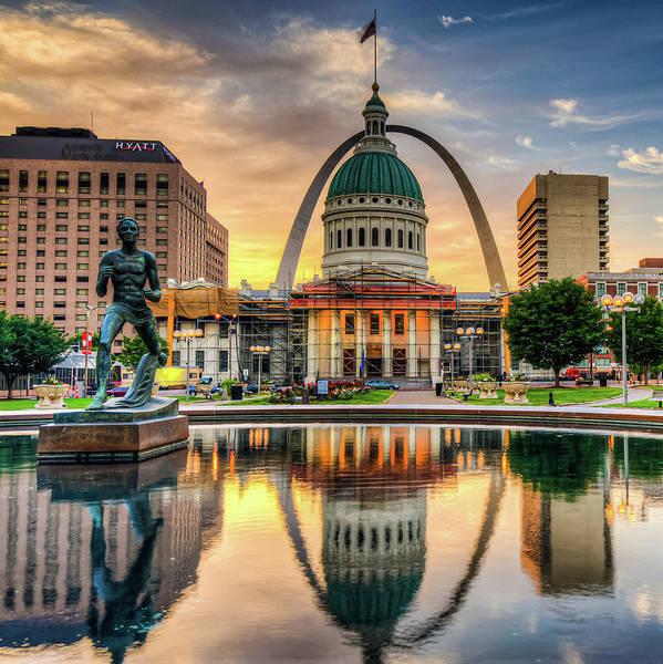 Saint Louis Skyline Morning Cityscape 1x1 Poster