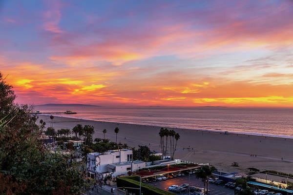 Santa Monica Pier Sunset - 11.1.18  Poster