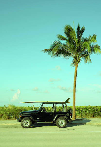 Saturday Surfer Jeep Poster