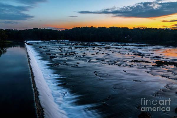 Savannah Rapids Sunrise - Augusta Ga Poster