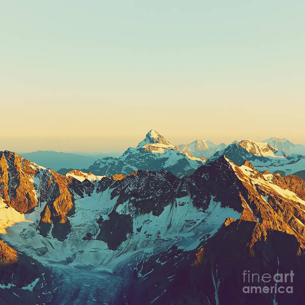 Scenic Alpine Landscape With And Poster