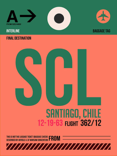 Scl Santiago Luggage Tag I Poster