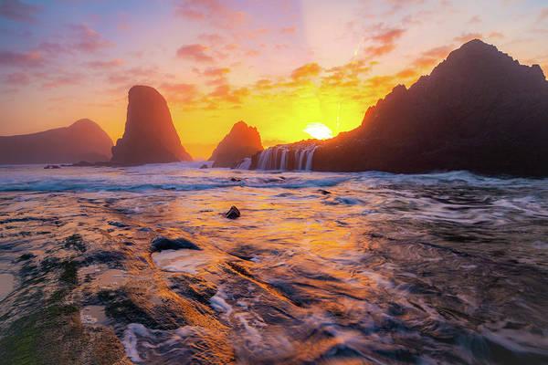 Seal Rock Beach Sunset Poster