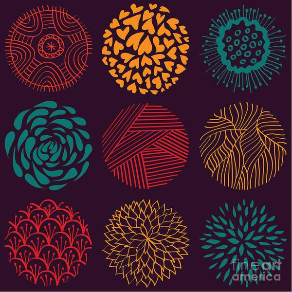 Seamless Circle Pattern Poster
