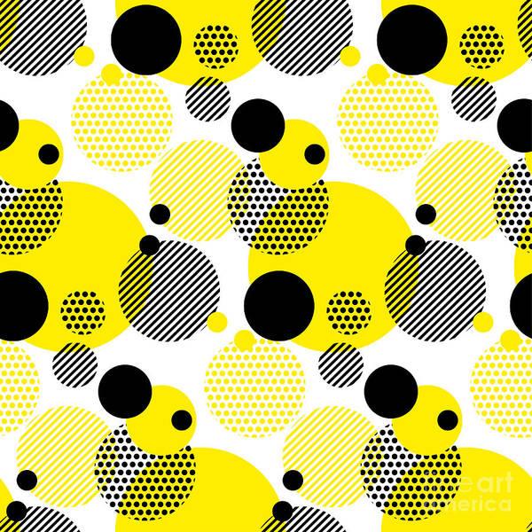 Seamless Dots Modern Pattern. White Poster