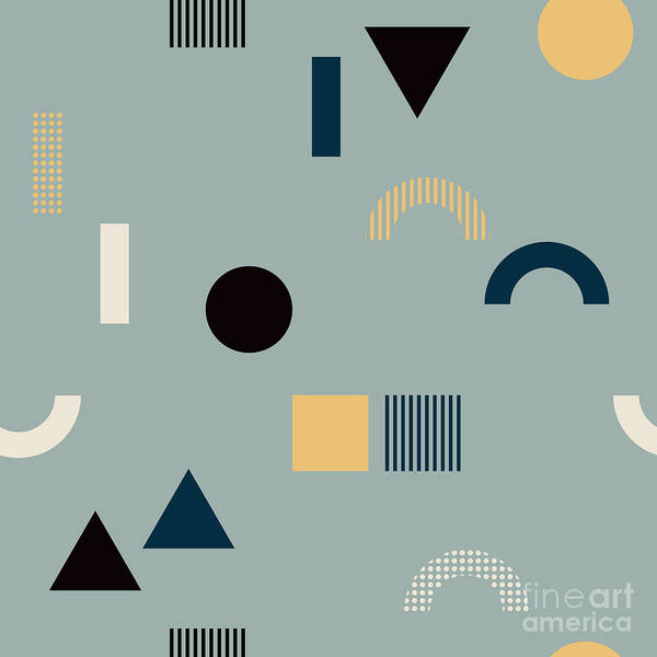 Seamless Pattern With Geometrical Poster
