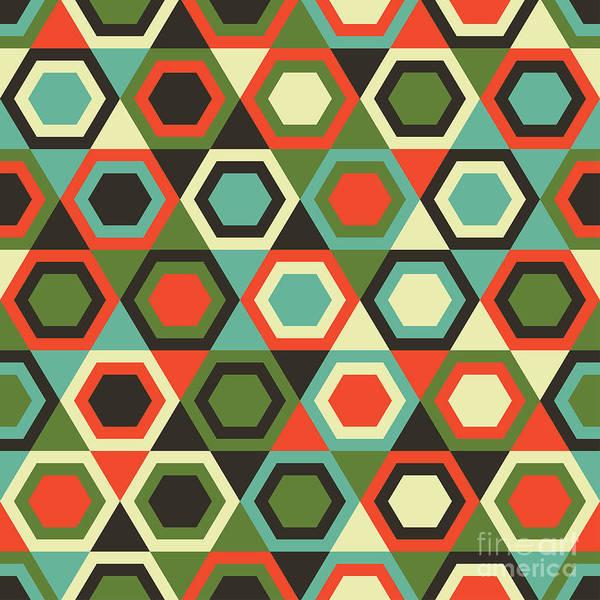 Seamless Retro Geometric Pattern Poster