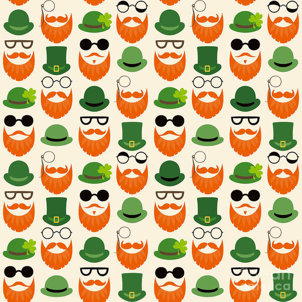 Seamless Vector Pattern With Faces In Poster