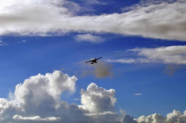 Seaplane Skyline Poster