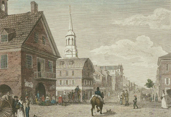 Second Street North From Market St. And Christ Church Poster