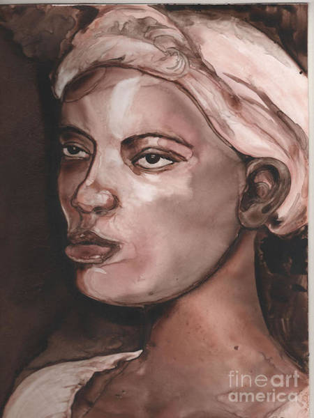 Sepia Woman Poster