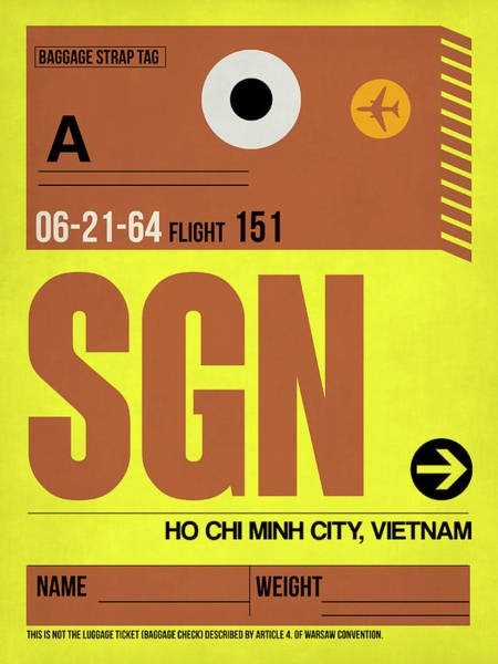 Sgn Ho Chi Minh City Luggage Tag I Poster
