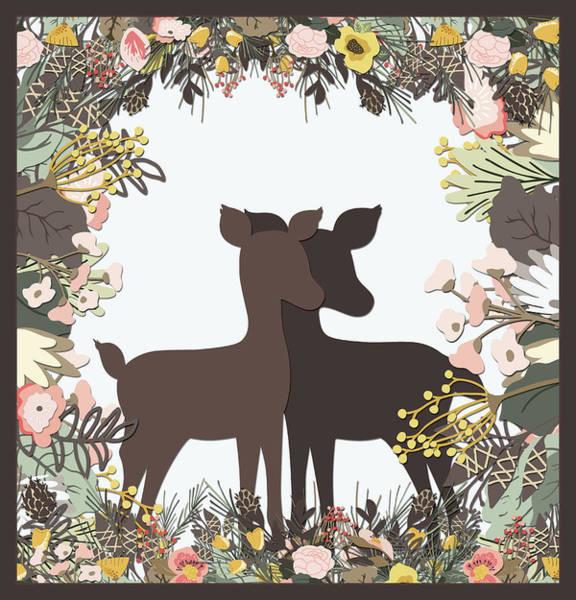 Shadowbox Deer Poster