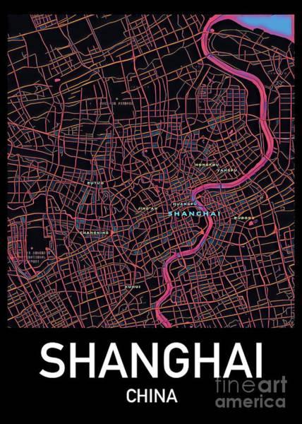 Shanghai City Map Poster