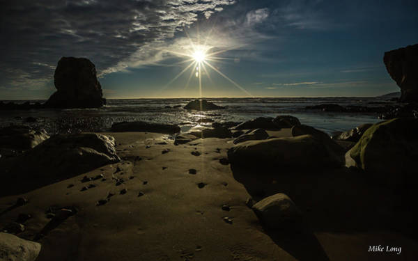 Shell Beach Sunburst Poster