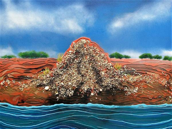 Poster featuring the painting Shell Mound by Joan Stratton