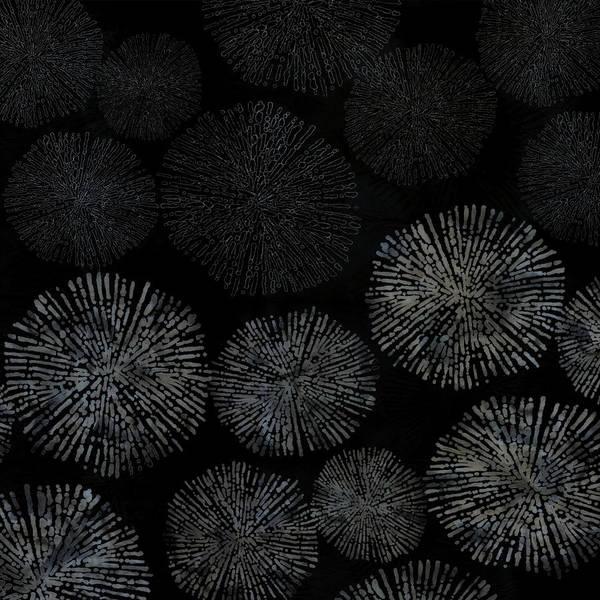 Shibori Sea Urchin Burst Pattern Poster