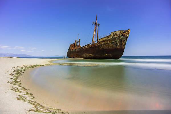 Shipwreck Dimitros Near Gythio, Greece Poster