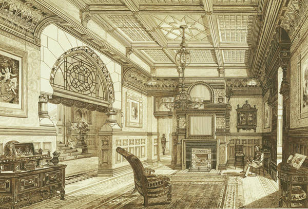 Sitting Room Of Bardwold, Merion Pa Poster