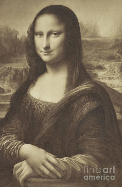 Sketch Of The Mona Lisa By Millet Poster