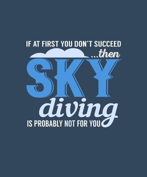 Sky Diving Poster