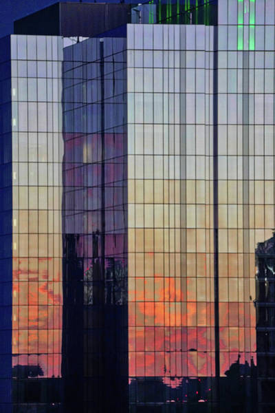 Poster featuring the photograph Skyscraper Sunset by Tom Gresham