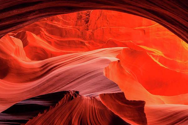 Slot Canyon Waves 1 Poster