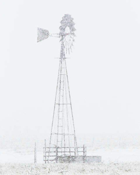 Poster featuring the photograph Snow And Windmill 04 by Rob Graham